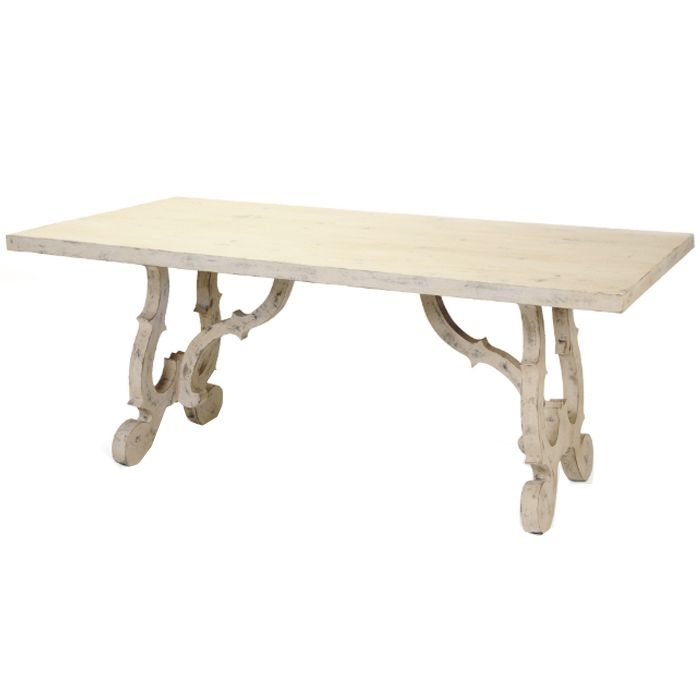 Belle maison furniture dining tables french for Table th scroll