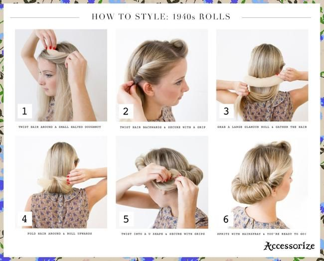 16 Beautiful And Easy D I Y Hairstyles Please Like And Enjoy 3 1940s Hairstyles For Long Hair 1940s Hairstyles Vintage Hairstyles Tutorial