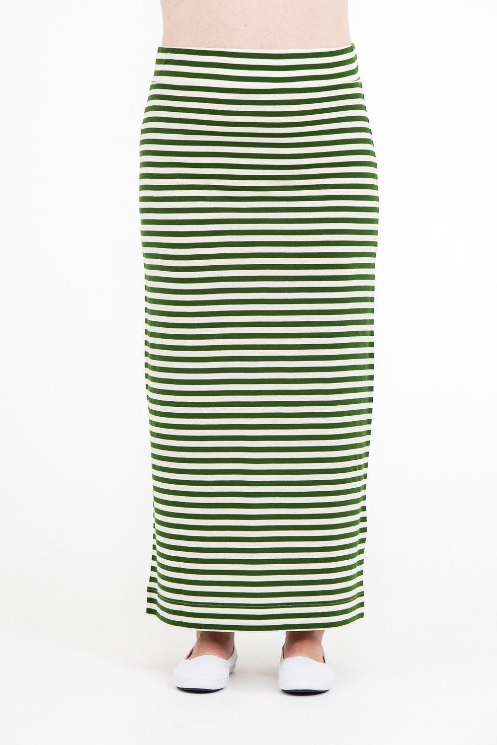 b2eb4414f3 AliceDot. international - Paris skirt long green/white stripe Vit, Women's  Skirts,