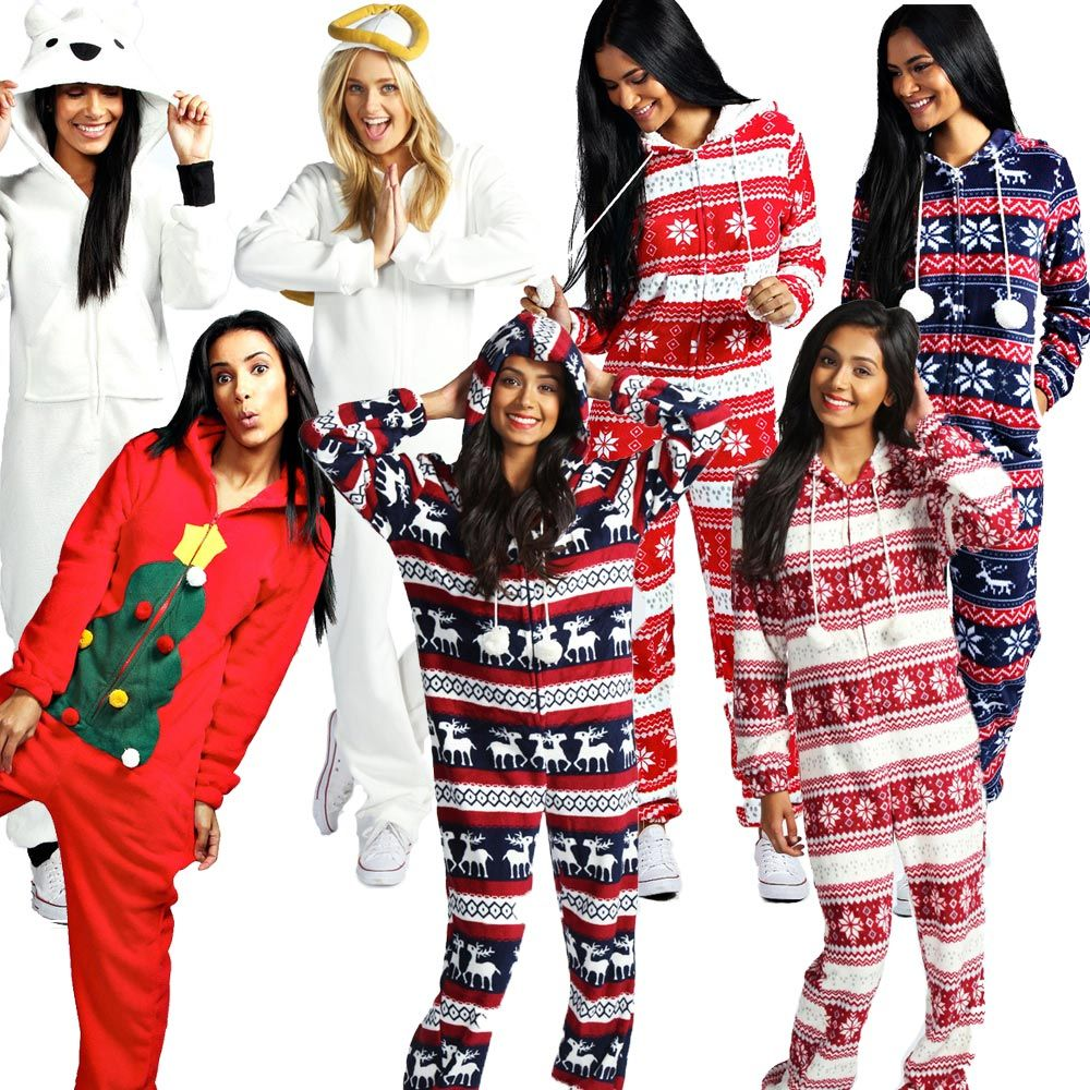 Adult Holiday Sleeper Onesies Ebay