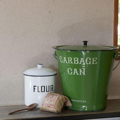 Vintage Green Basket $100