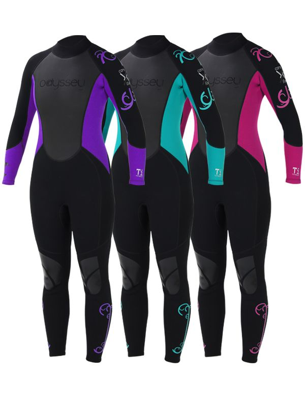 945d5d4bb1 Odyssey 3mm Ladies Women s Wetsuit Wet Suit Full Steamer Titanium Swim Surf  XS-L