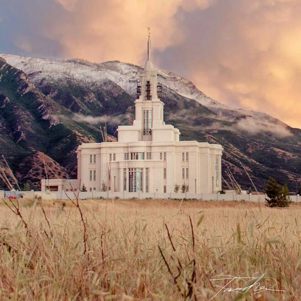 Lovely Payson Utah Temple Visited Here A Week Before The Open House. So Beautiful!  #