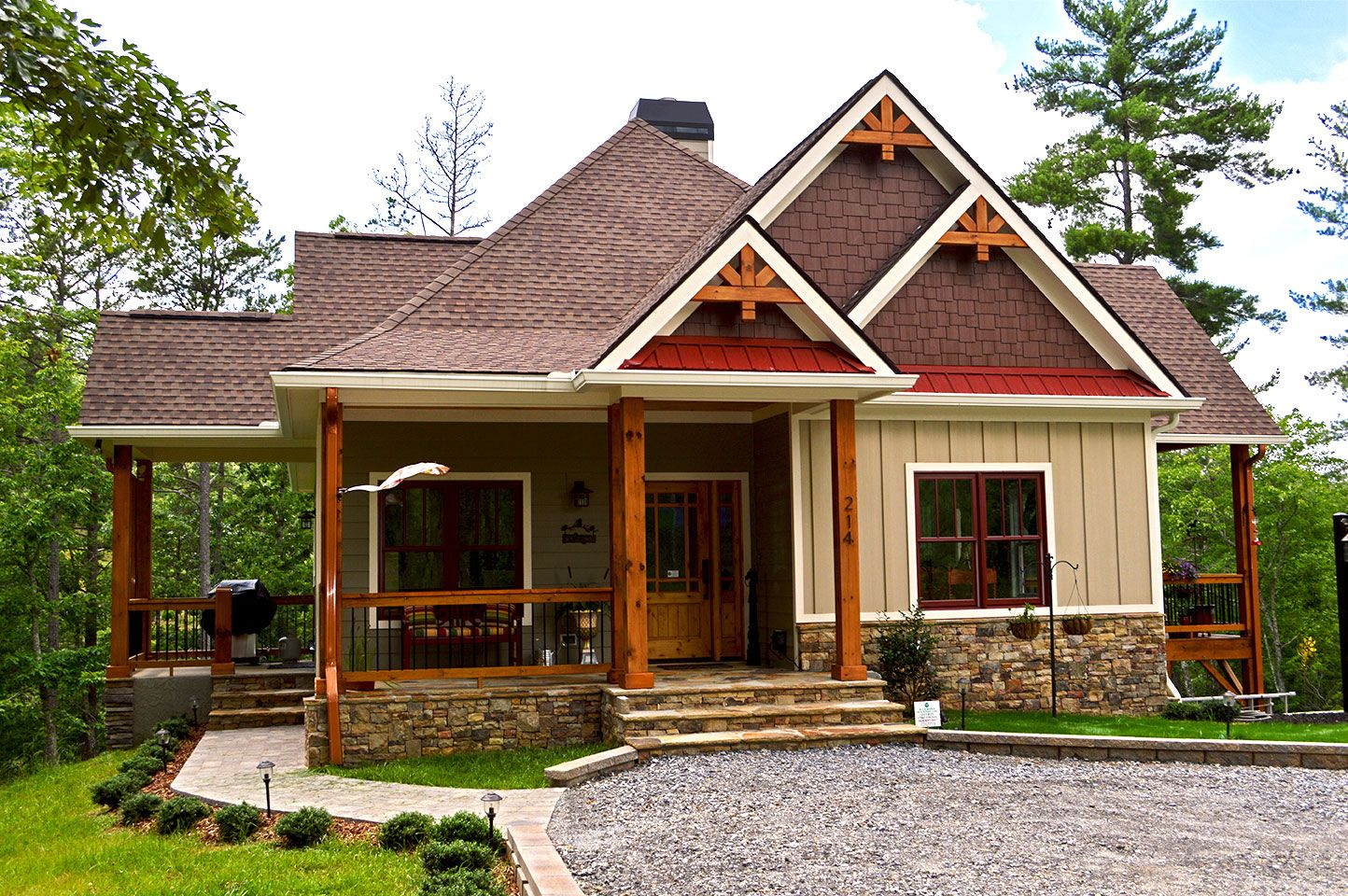 Small Rustic Lake Cabin Designed And Built By Max Fulbright Www Maxhouseplans Com Rustic House Plans Small Lake Houses Porch House Plans