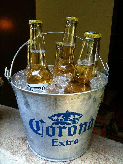 Corona Bucket Beer Fridge Corona Beer Beer Time