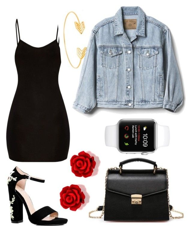 """everything is good"" by tiffany-duque on Polyvore featuring Boohoo, Lord & Taylor and Gap"