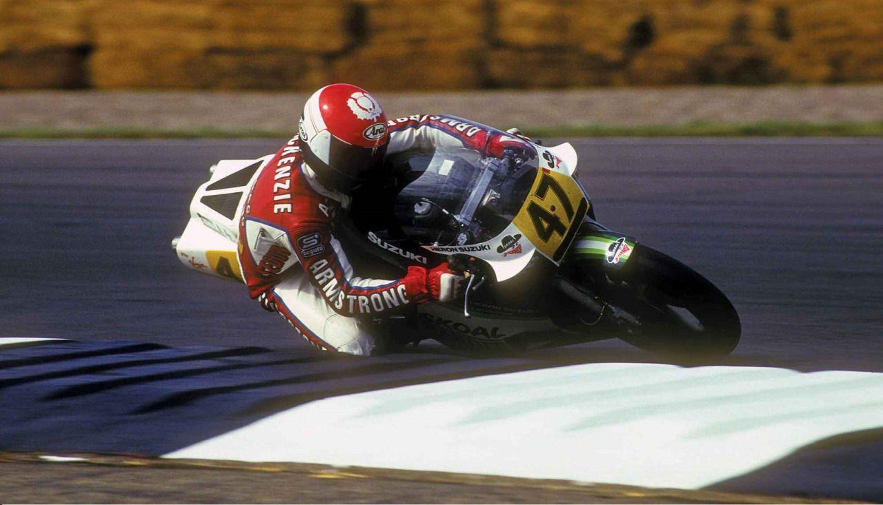 Niall Mackenzie, Skoal Bandit Heron-Suzuki RG500, 1986 British 500cc Grand Prix…