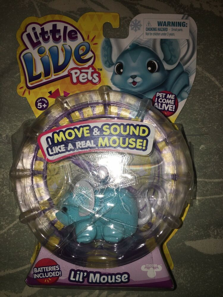 New S1 Little Live Pets Lil Mouse Chatter Teal Talkative Mouse