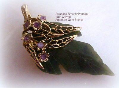 Goldtone Vintage Brooch Natural Stone Vintage Brooch Pin Carnelian Stone Leaf Brooch Semi Precious Stone Brooch Goldtone Leaf Pin
