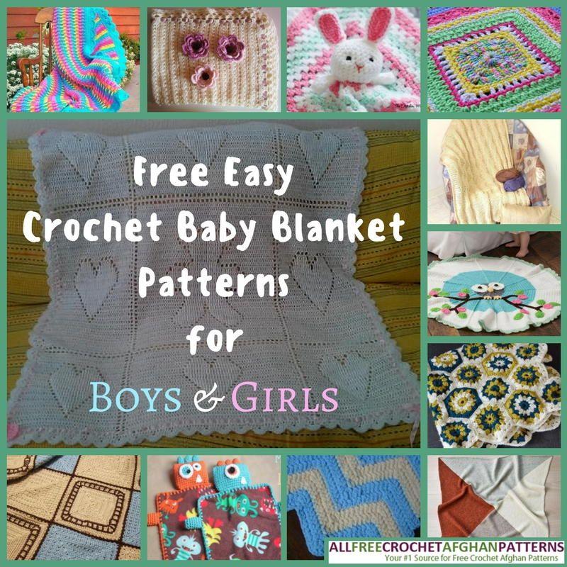 34 Free Easy Crochet Baby Blanket Patterns for Boys & Girls