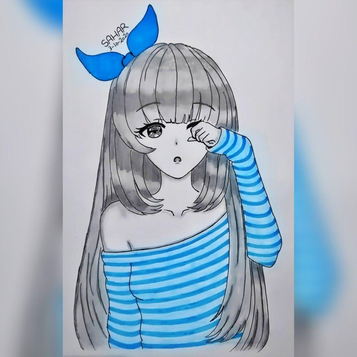 رسم فتاة انمي Enime Girl Drawing Art Anime
