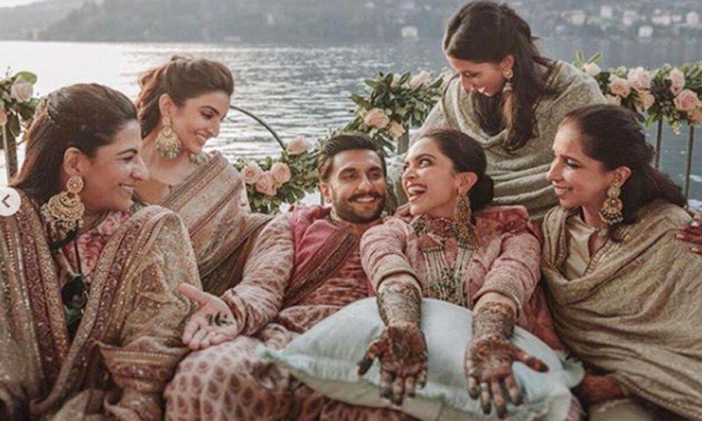 Deepika Ranveer S Cute Moments From Mehendi Ceremony Goes Viral Check Out Filmibeat Deepika Ranveer Celebrity Weddings Lake Como Wedding
