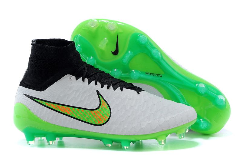Soccer shoes � Nike Magista Obra FG White Green Orange Black