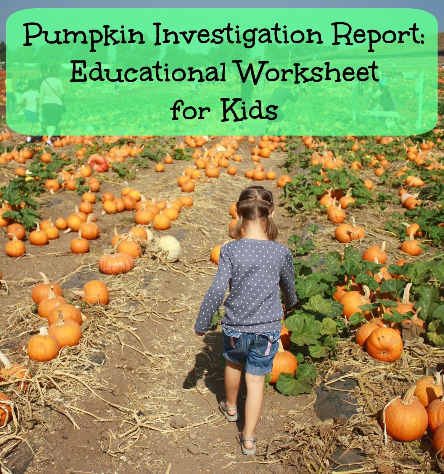 Pumpkin Patch Field Trip Includes Free Educational