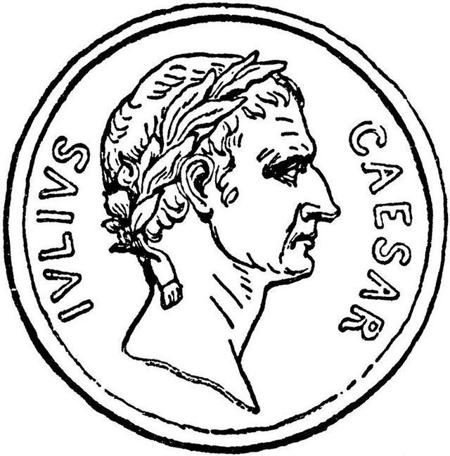 Julius Caesar Coin Roman Money Coloring Page New Popular Money