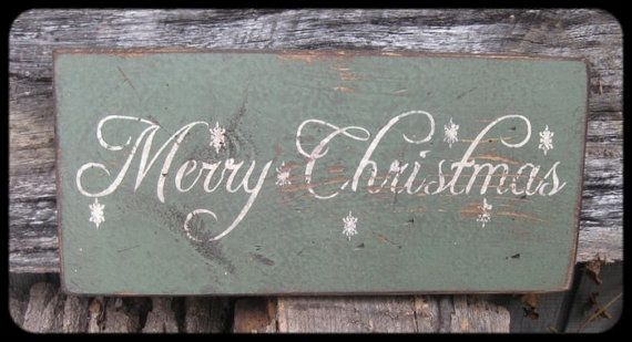 ~~PRIMITIVE WOOD WINTER SIGN~~MERRY CHRISTMAS~~SNOWFLAKES~~