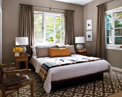 bed in front of window, I need a nice big rug like this