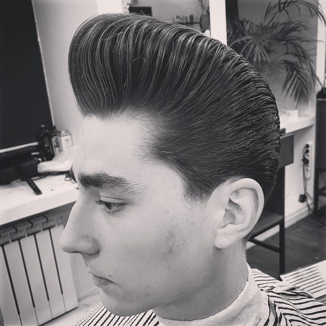 surprising rockabilly pompadour the latest win confidence