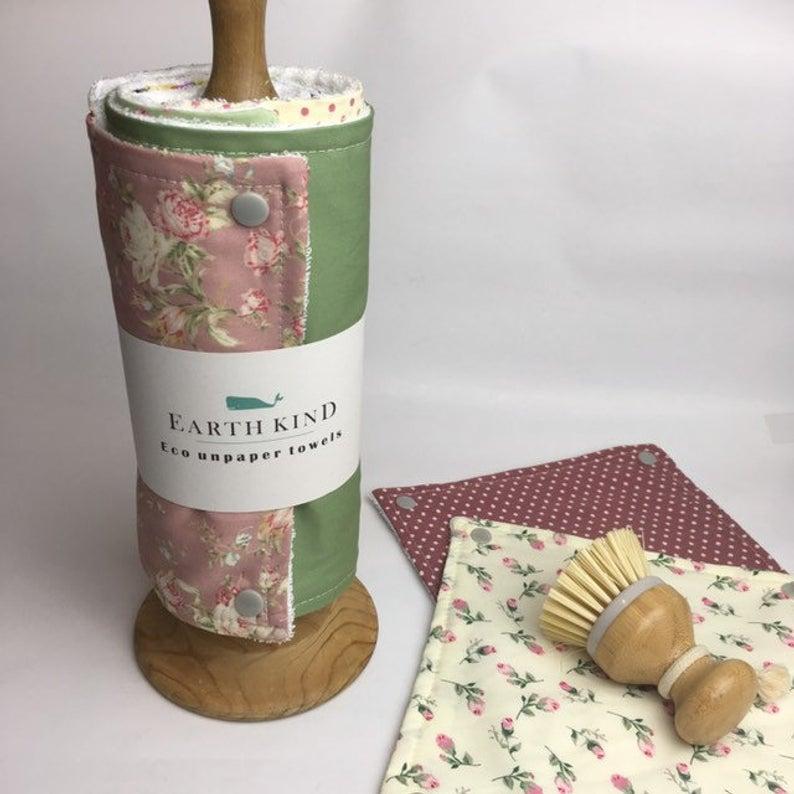 Unpaper Towels Reusable Kitchen Roll Washable Wipes Zero Etsy Reusable Paper Towels Unpaper Towels Kitchen Roll