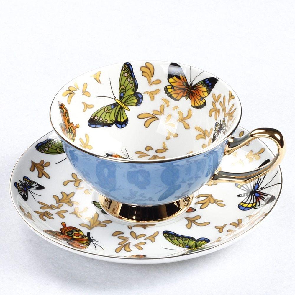 Royalty Bone China Coffee Tea Cup Saucer Set Price 49.99