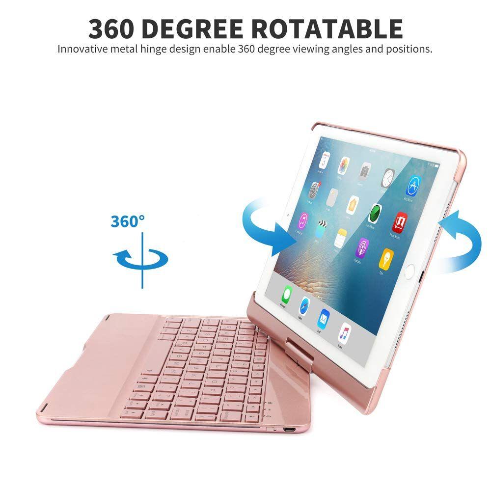 Ipad Keyboard Case For 2018 Ipad 6th Gen 2017 Ipad 5th Gen Ipad Pro 9 7 Ipad Air 2 Air 1360 Rotatable Auto Sleep Wa Ipad Keyboard Apple Ipad Case Keyboard Case
