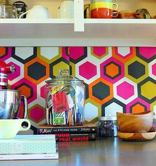 15 Ideas For Removable, DIY Kitchen Backsplashes