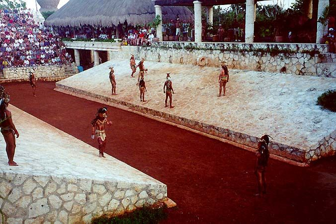 Mayan Ball Game Xcaret Step Pyramid Mesoamerican Yucatan