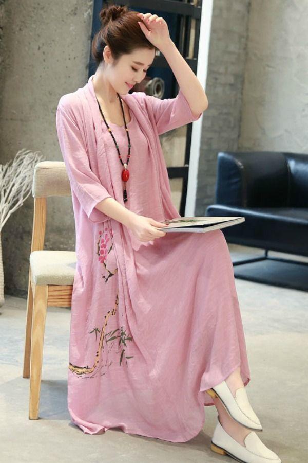 Summer Dress Maxi Dress Korea Long Dress Chiffon Korea Baju