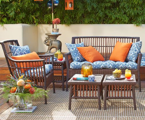 Pier 1 Outdoor Furniture: The Banyan Bay Collection.