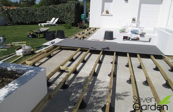 Lame de terrasse en composite Backyard ideal Pinterest Decking - poser terrasse bois sur herbe
