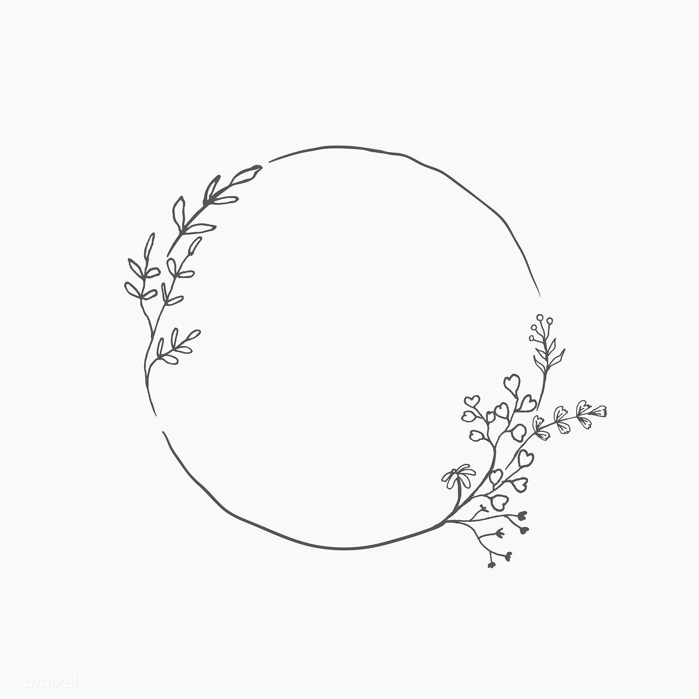 Download Premium Vector Of Round Floral Frame Element Vector