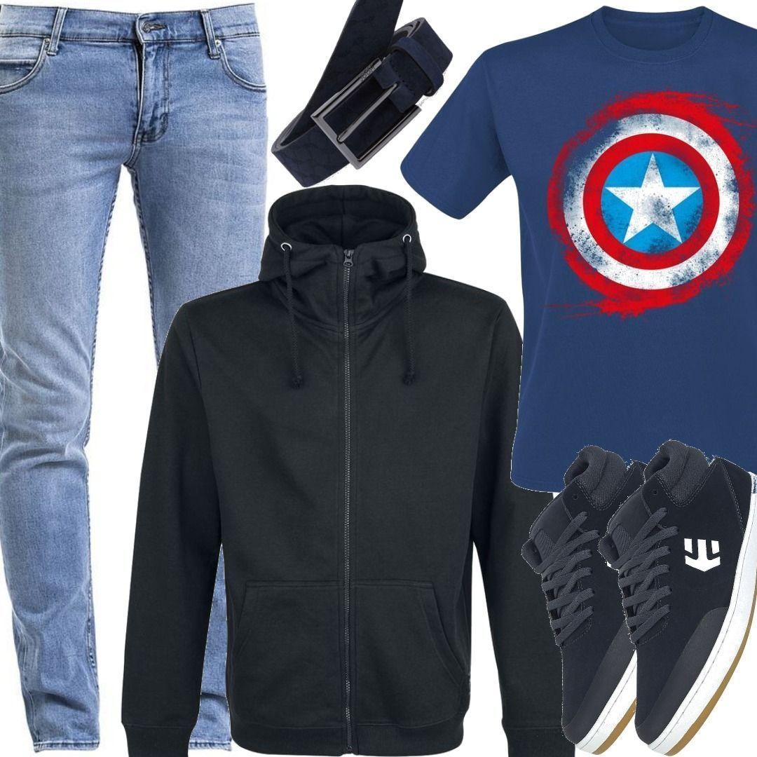 Für Kapuzenjacke By Premium Outfit Zum Herren Emp Black 67gmYfvIyb