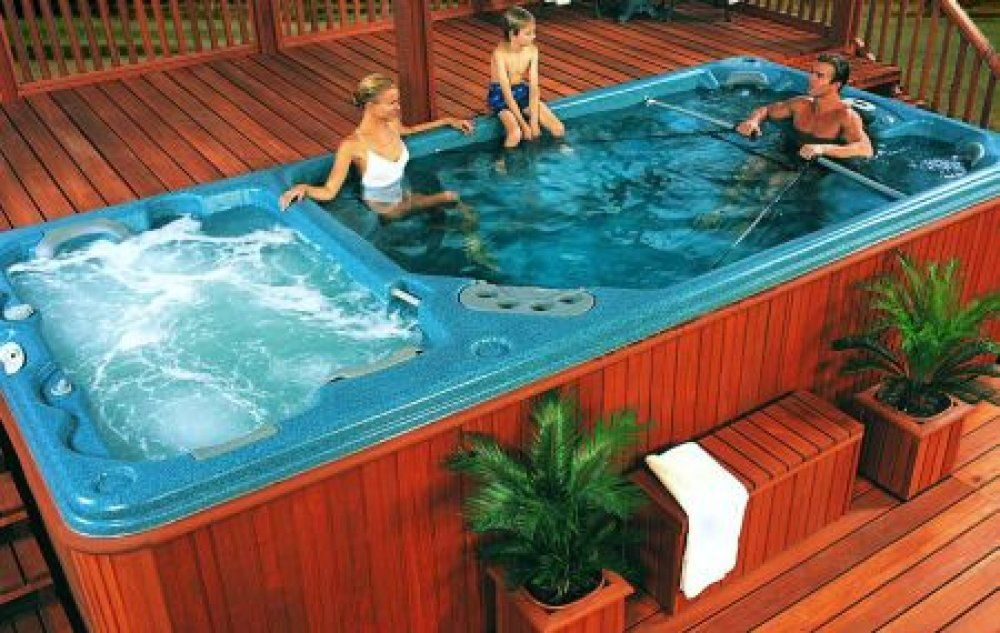 Famous Hot Tub Swim Spa Pools Swim Spa Hot Tub Combo | Hot Tub Chillin  CD28