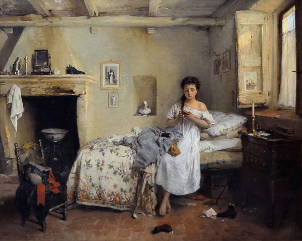 Gerolamo Induno - TRISTE PRESENTIMENTO -  1862