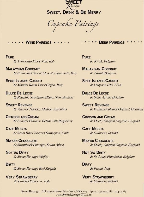 wine, beer and cupcakes!! Cupcake Crush Pinterest Wine - beer menu