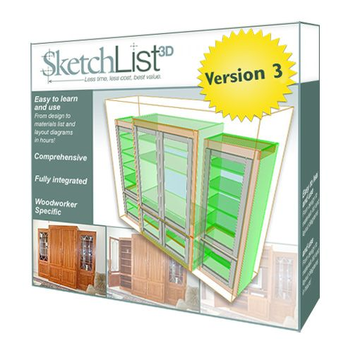 SketchList 3D Furniture Design Software Version 4
