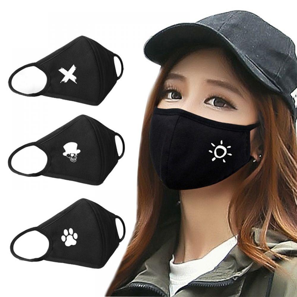 Unisex Cute Anime Face Mask In 2020 Mouth Mask Fashion Mouth Mask Black Mask