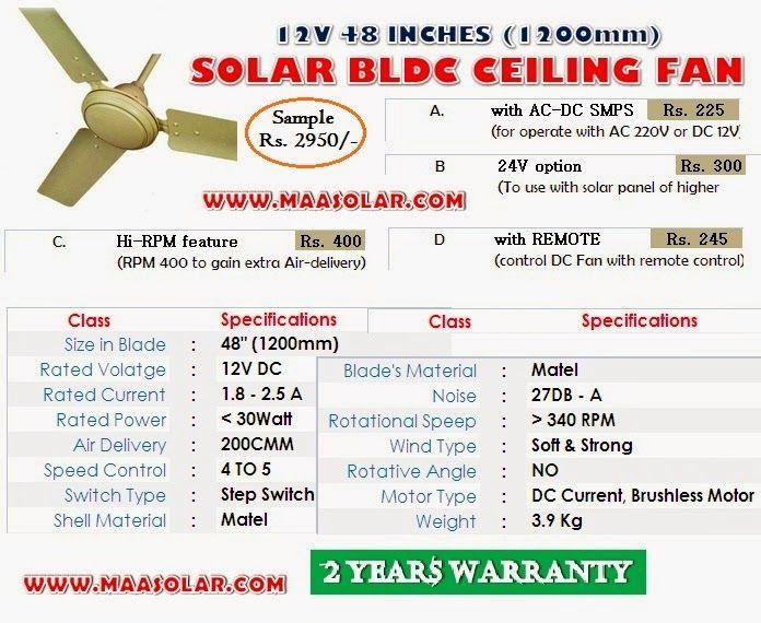 Solar Bldc 24v Ceiling Fan Manufacturer India Delhi Manufacture And