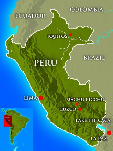 Map of Peru... I\'ve been to the northern jungle and all the ...