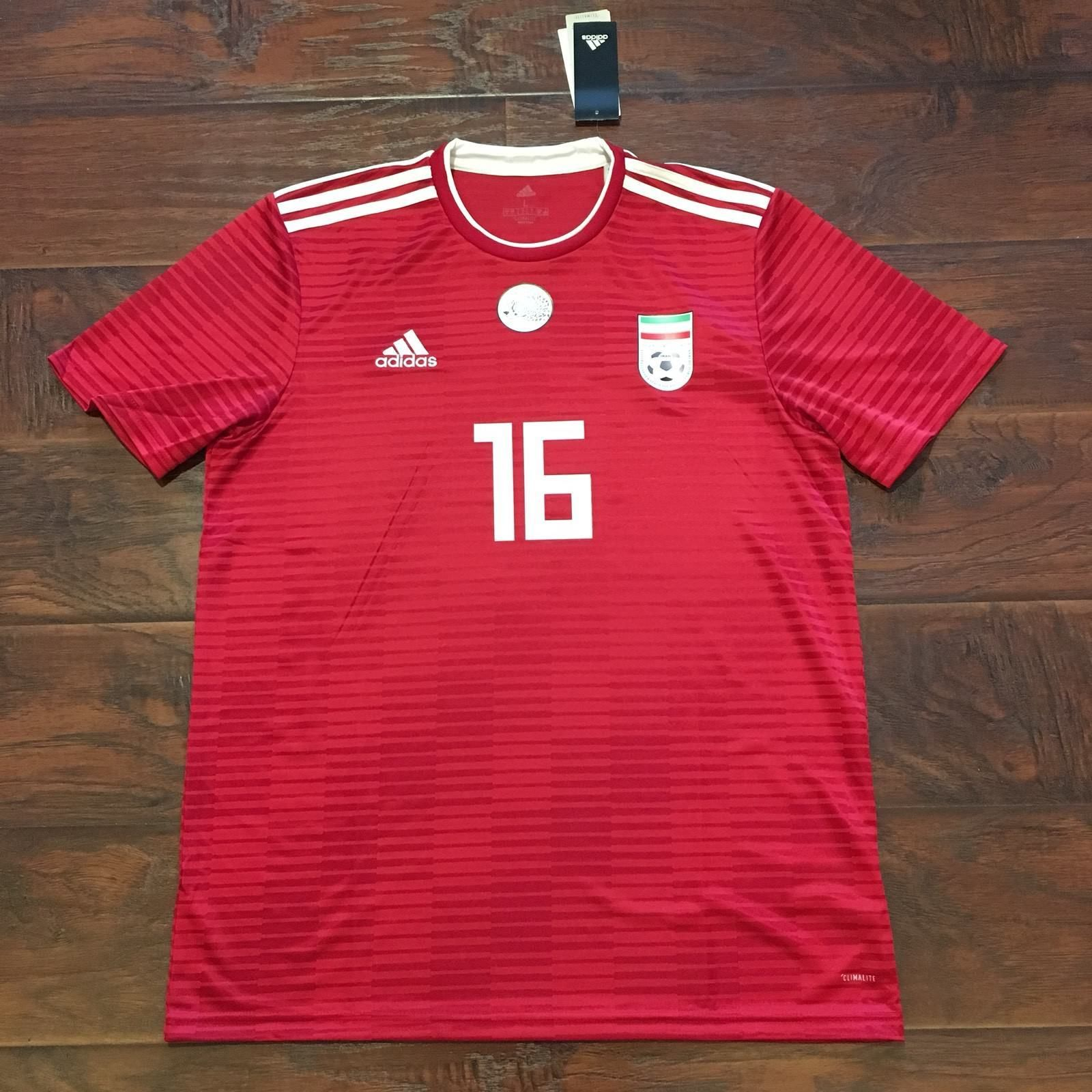 2018 Iran Away Jersey  16 Reza Ghoochannejhad Large Adidas World Cup Shirt  NEW Discount Price 115.00 Free Shipping Buy it Now 5d6727832