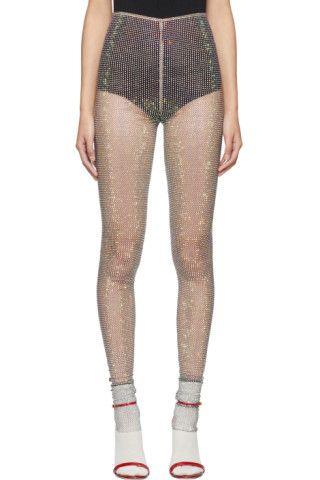 43305e25bae22 Gucci - Black crystal & mesh Aurora leggings | UNDERWEAR ETC ...