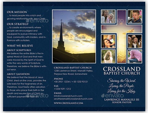 Christian Church Religious  Adobe Indesign Brochure Template