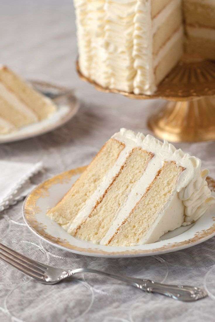 This Delicious Sour Cream Cake With Whipped Vanilla Frosting Is A Special Treat Sour Cream Cake Vanilla Frosting Recipes Desserts