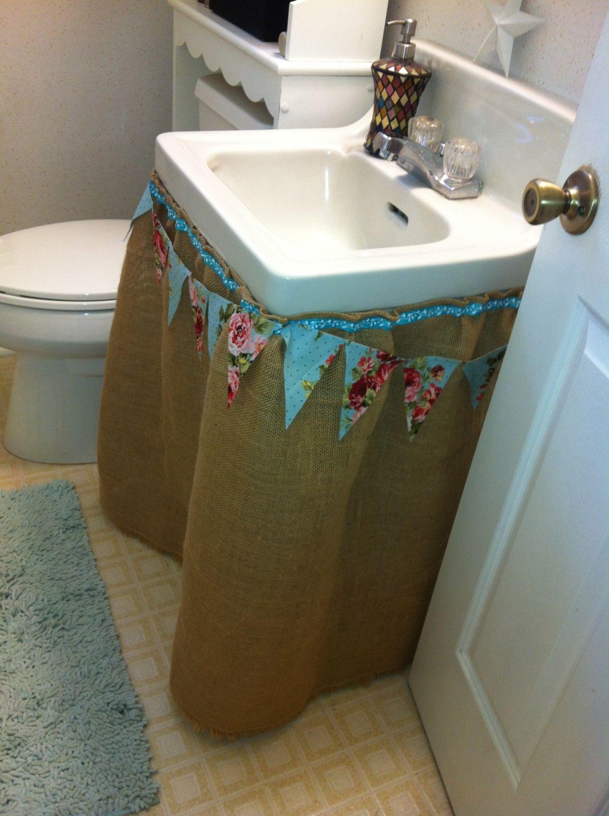 Junk Salvation By Funky Junk Sisters Sink Skirt Under Bathroom Sinks Funky Junk
