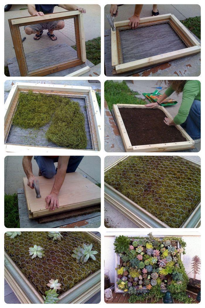 Wie man einen Pflanzentisch aus Sukkulenten auf einem Gemüsegestell baut – #von #building #a …