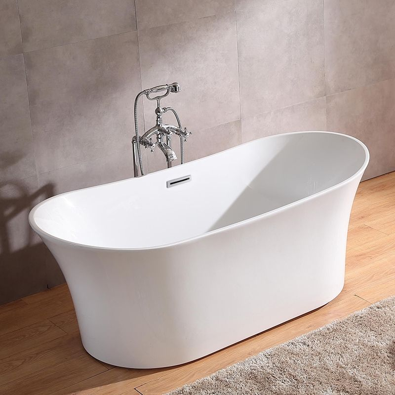 Stylish Design White Freestanding Acrylic Soaking Bathtub With