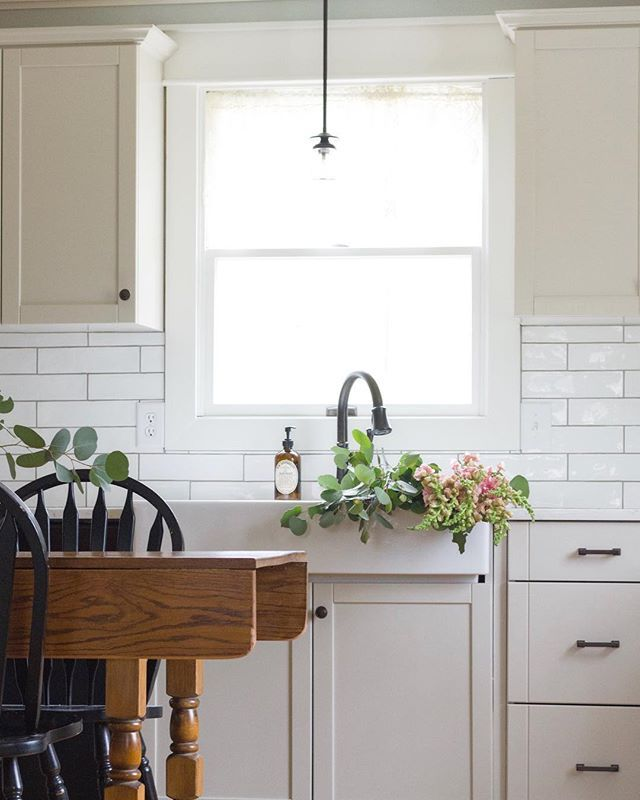 Light Pine Kitchen Cabinets: Peach And Pine Home (@peachandpinehome) • Farmhouse Style