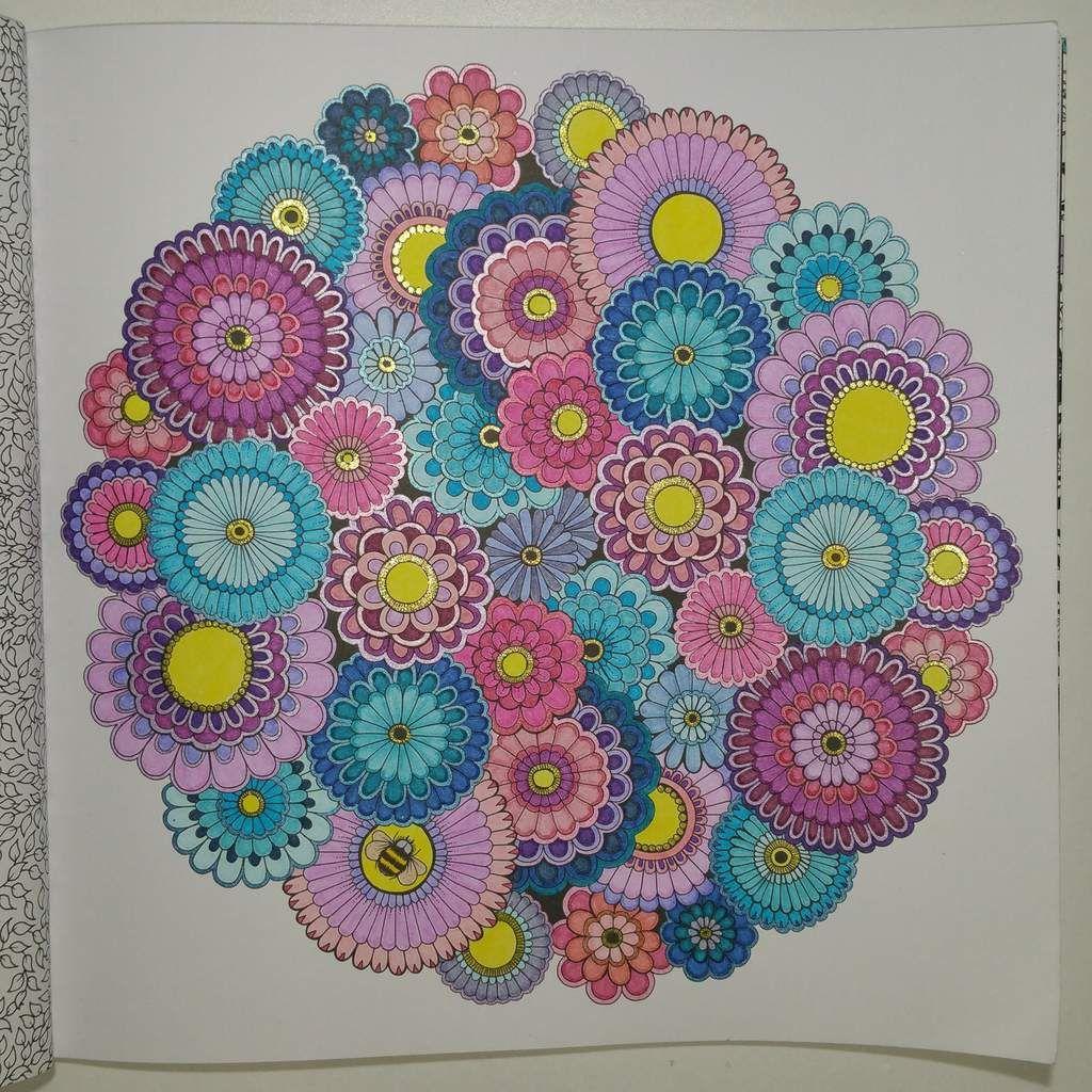 Coloriage issu du livre jardin secret johanna basford - Mon jardin secret coloriage ...