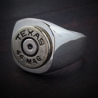 Texas Marksman Sterling Silver Bullet Ring