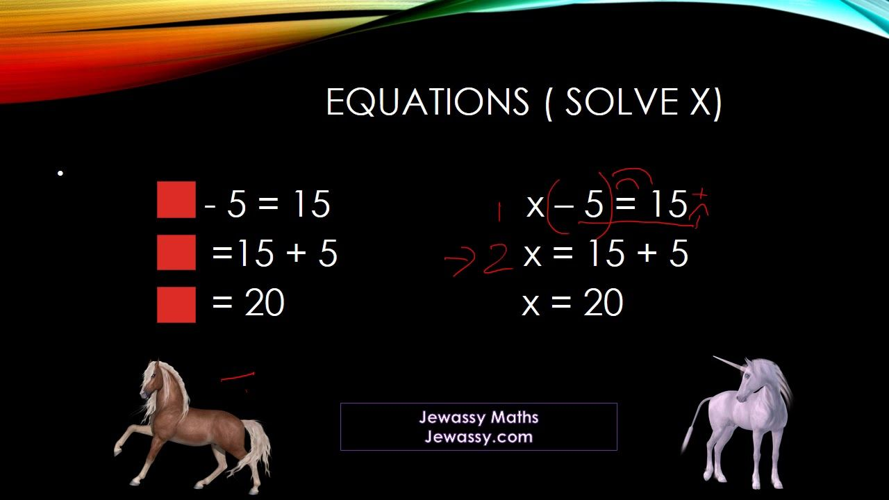 Basic Equations Addition And Subtraction Addition And Subtraction Equations Subtraction Solving equations adding and